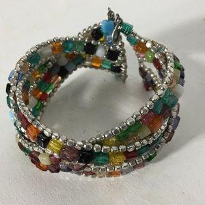 Jewelry - ⏰ Beautiful Colorful Beaded Cuff Bracelet